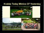 krabbe today mimics cf yesterday