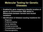 molecular testing for genetic diseases