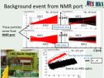 background event from nmr port