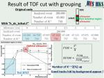 result of tof cut with grouping