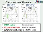 check works of the code1