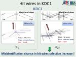hit wires in kdc1