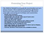 presenting your project