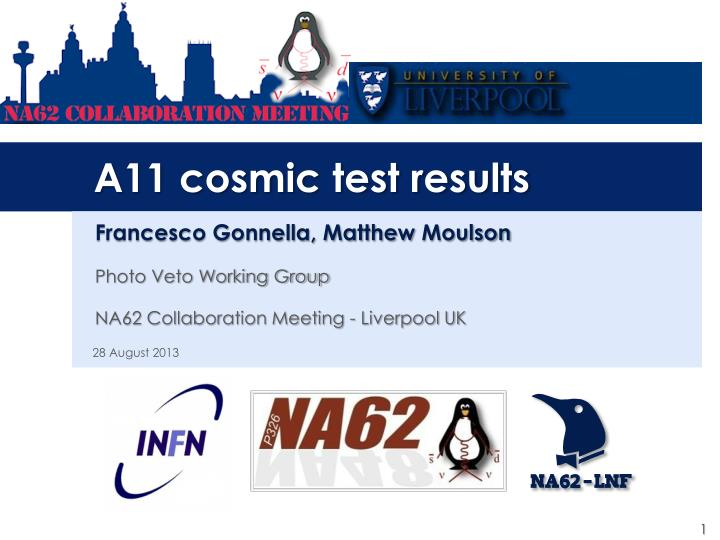 a11 cosmic test results n.