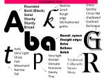describing font
