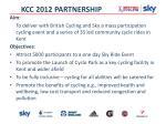 kcc 2012 partnership