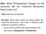 aim what philosophical changes to the economy did the industrial revolution help to spur on