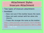 attachment styles insecure attachment
