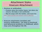 attachment styles insecure attachment1
