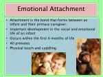 emotional attachment