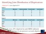 identifying joint distribution of deprivations