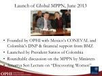 launch of global mppn june 2013