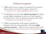 political recognition