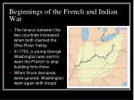 beginnings of the french and indian war