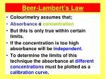 beer lambert s law