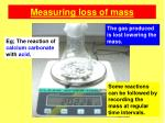 measuring loss of mass