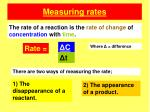 measuring rates