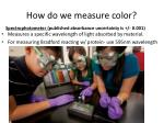 how do we measure color1