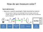how do we measure color2