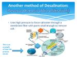 another method of desalination reverse osmosis microfiltration