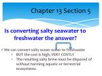 is converting salty seawater to freshwater the answer