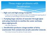 three major problems with desalination