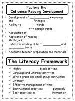 factors that influence reading development