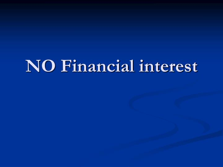 no financial interest n.
