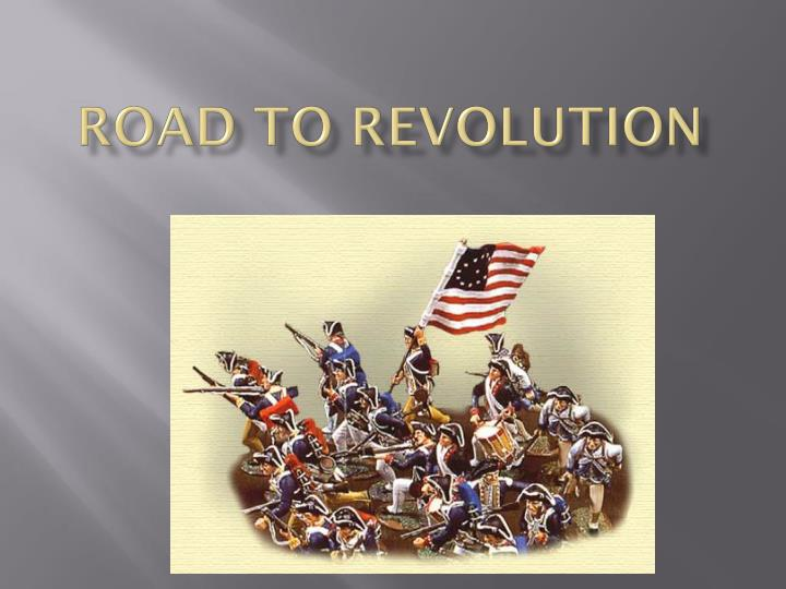 road to revolution n.