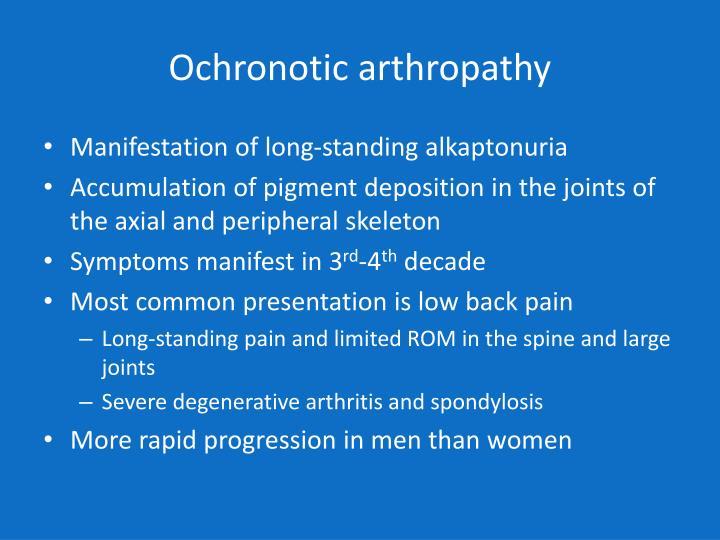 Ochronotic arthropathy