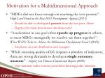 motivation for a multidimensional approach