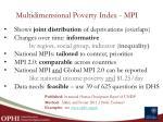 multidimensional poverty index mpi1