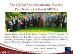 the global multidimensional poverty peer network global mppn