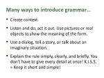 many ways to introduce grammar3