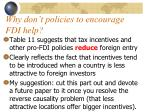 why don t policies to encourage fdi help