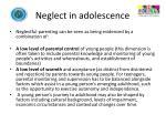 neglect in adolescence