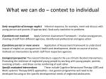 what we can do context to individual