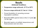 results achieved conditions