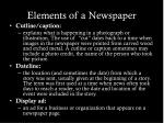 elements of a newspaper1