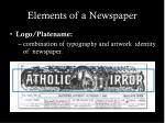 elements of a newspaper4