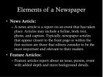 elements of a newspaper7