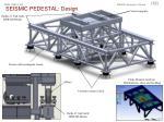 seismic pedestal design