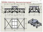 seismic pedestal manufacturing drawings