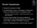 photic headshake