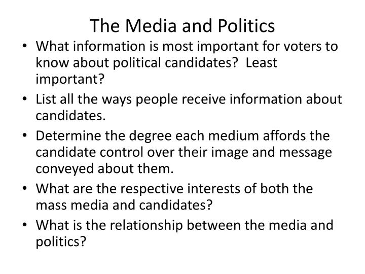 the media and politics n.