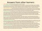 answers from other learners