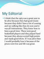 my editorial
