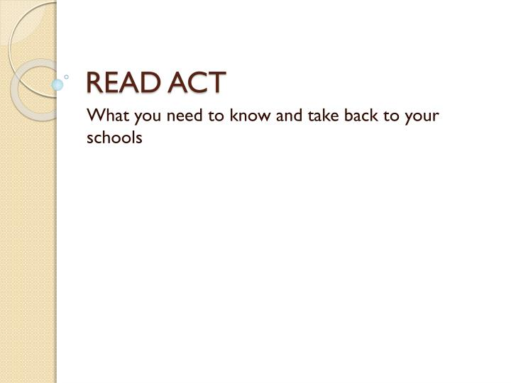 read act n.