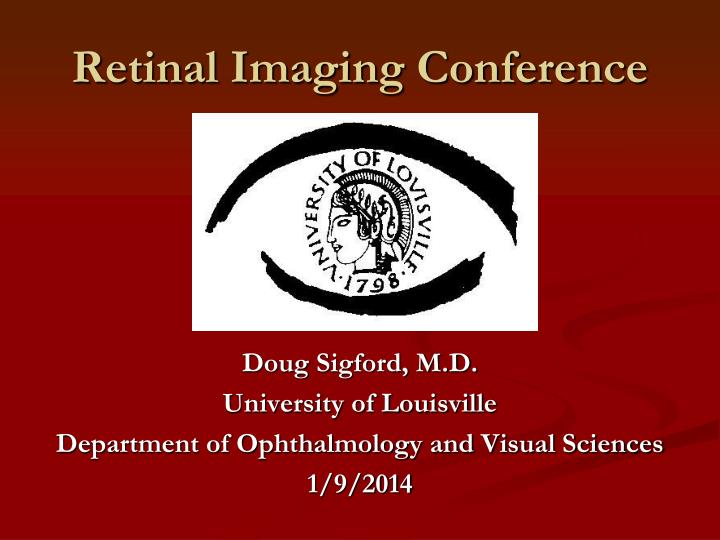 retinal imaging conference n.