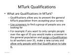 mturk qualifications